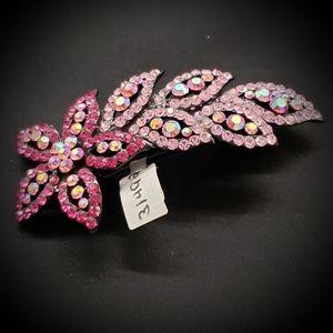 Pink Rhinestone Hair Clip